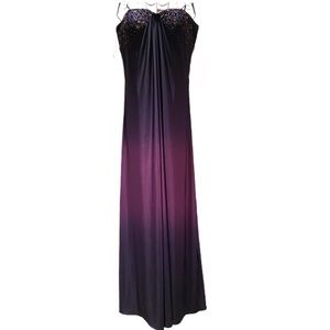 Adriana Papell - Purple Ombré Evening Gown size 14